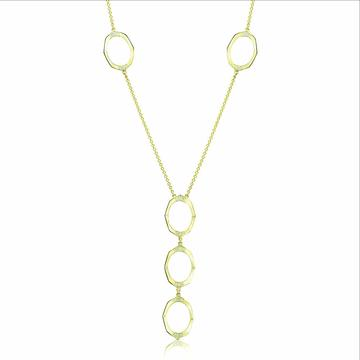 14 karat yellow gold drop necklace with diamonds