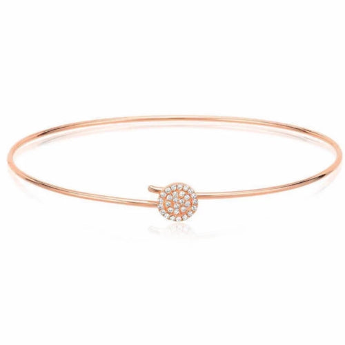 Small Round Pave Hook Bangle