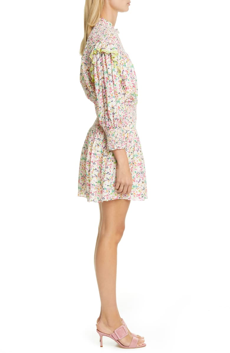 Imogen Floral Long Sleeve Minidress-Dresses-Tanya Taylor-Max & Riley
