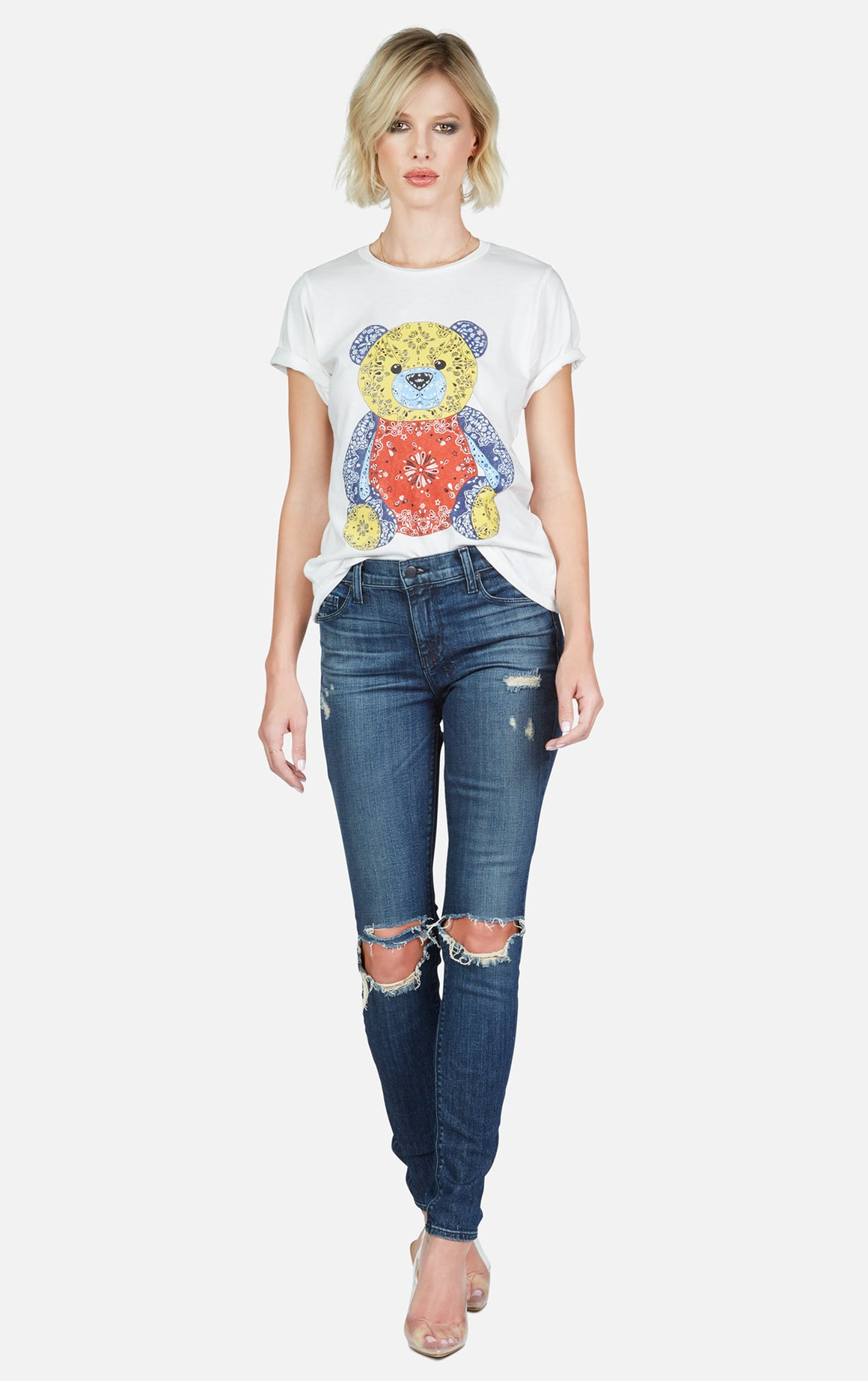 Croft Bandana Bear Tee-Tops-Lauren Moshi-Max & Riley