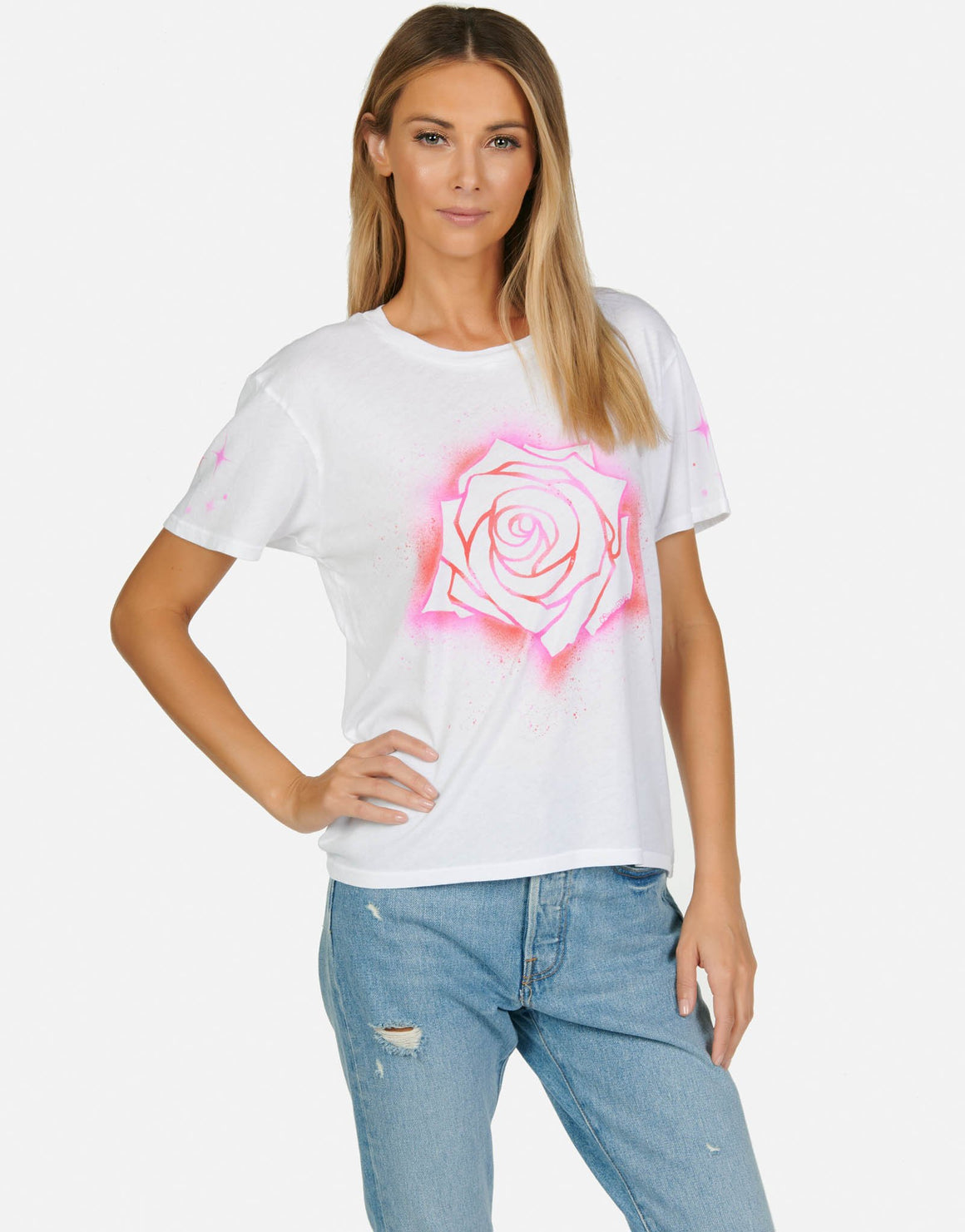 Croft Sparkle Rose Tee-Tops-Lauren Moshi-Max & Riley