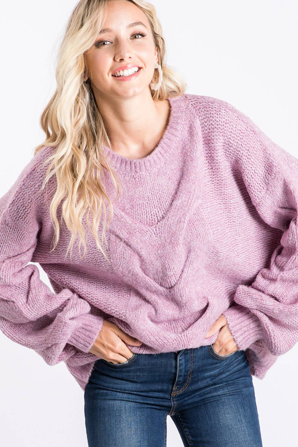 Lavender Fields Sweater-Sweaters-Max & Riley-Max & Riley