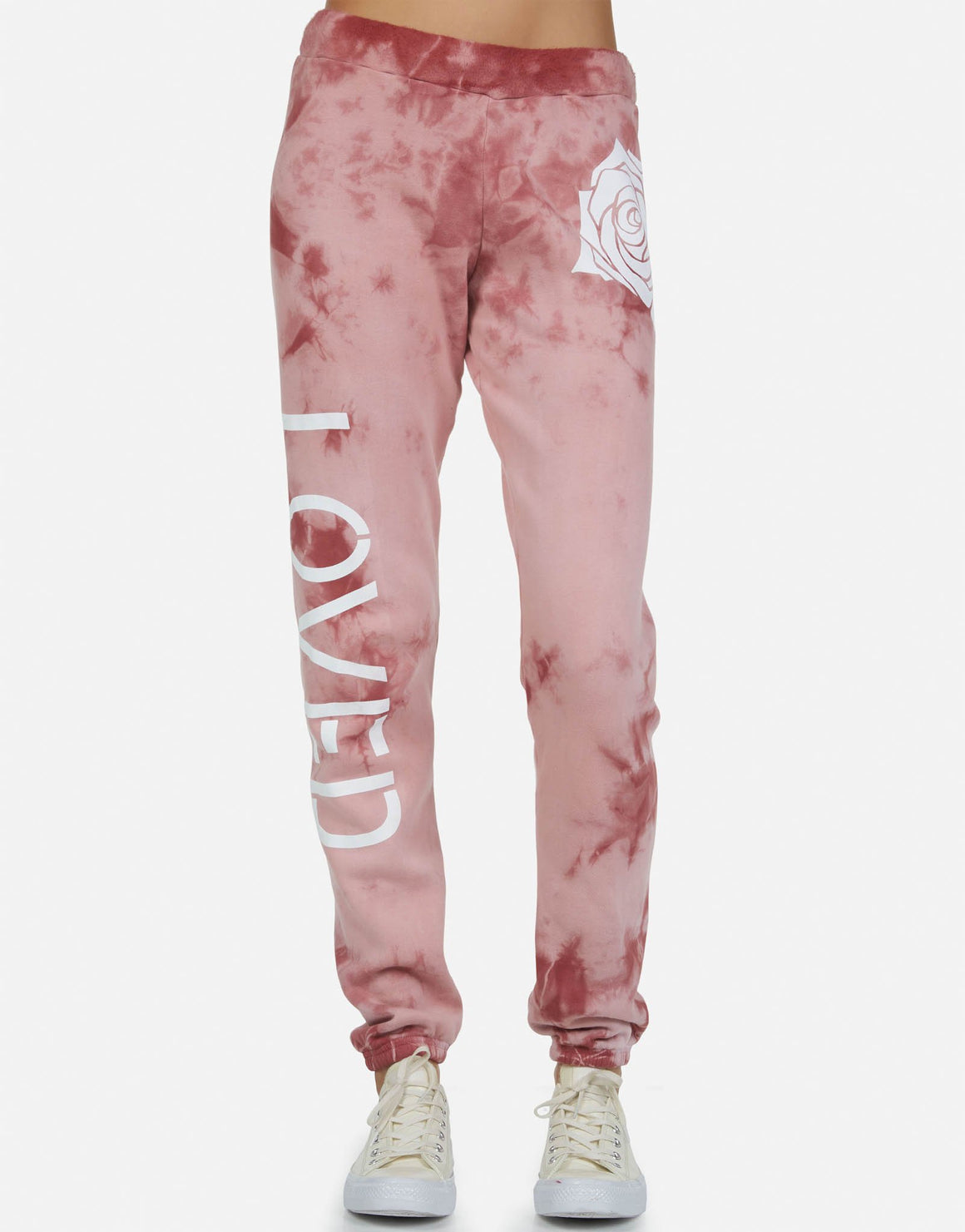 Gia Loved Rose Sweatpants-Sweatpants-Lauren Moshi-Max & Riley