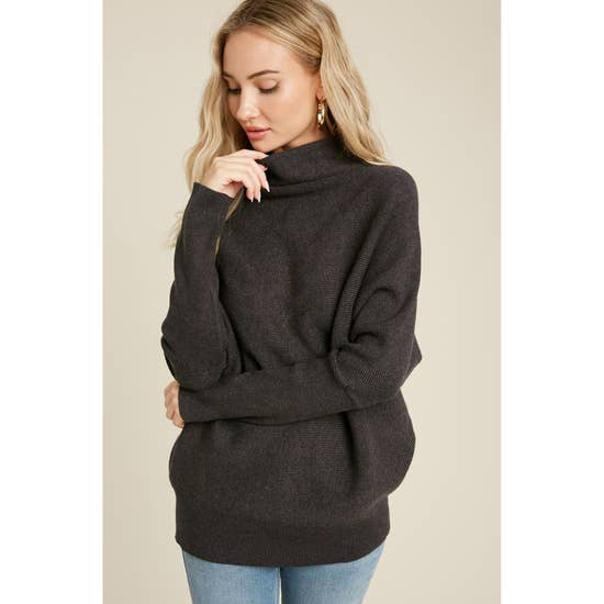 Autumn Mist Slouch Neck Top-Sweaters-Max & Riley-Max & Riley