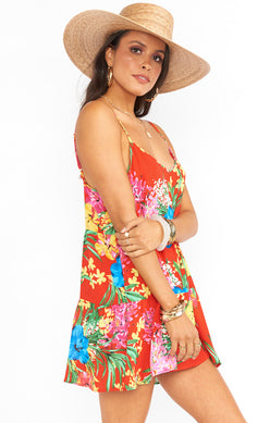 Caroline Mini Dress - Tropical Tango Exclusive-Dresses-Show Me Your Mumu-Max & Riley