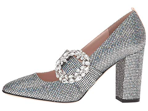 Jeweled Brooch Accent High Heel Shoe