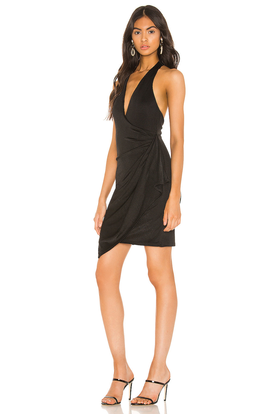 Marx Halter Neck Mini Dress-Dresses-Alice + Olivia-Max & Riley