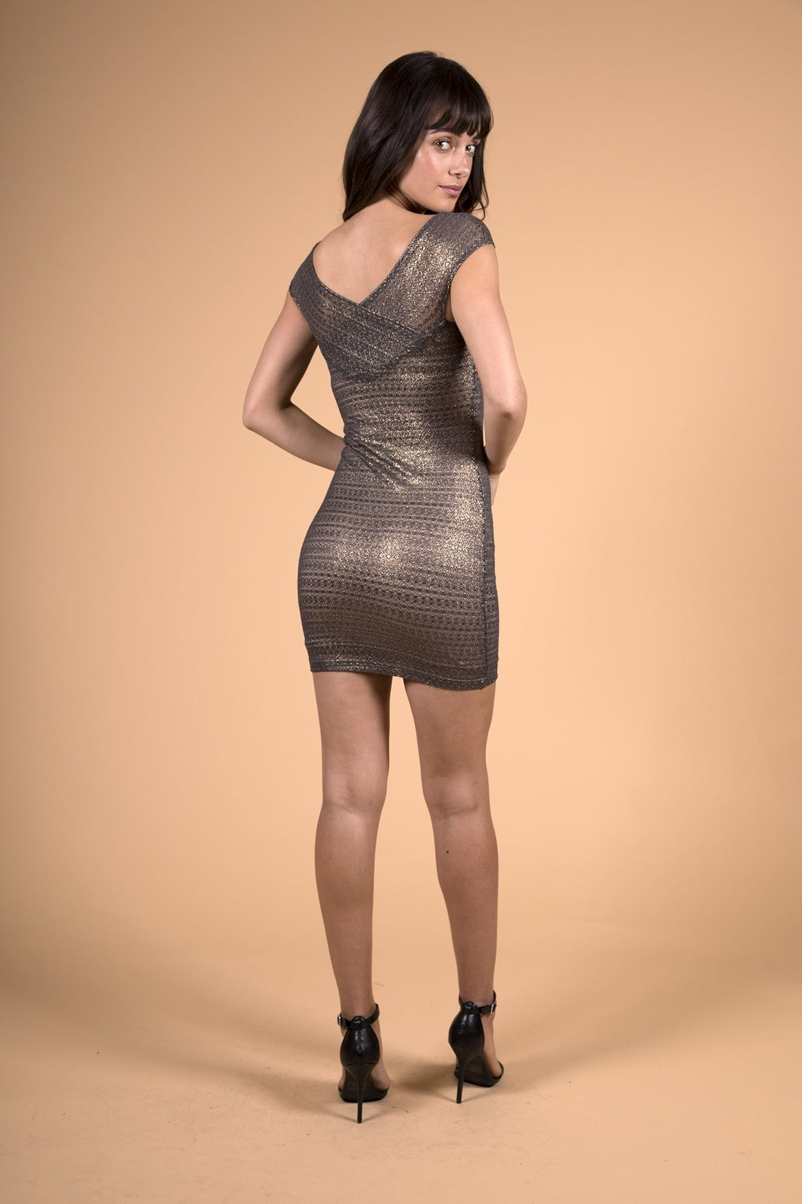 Champagne Mini Dress-Dress-Nightcap Clothing-Max & Riley