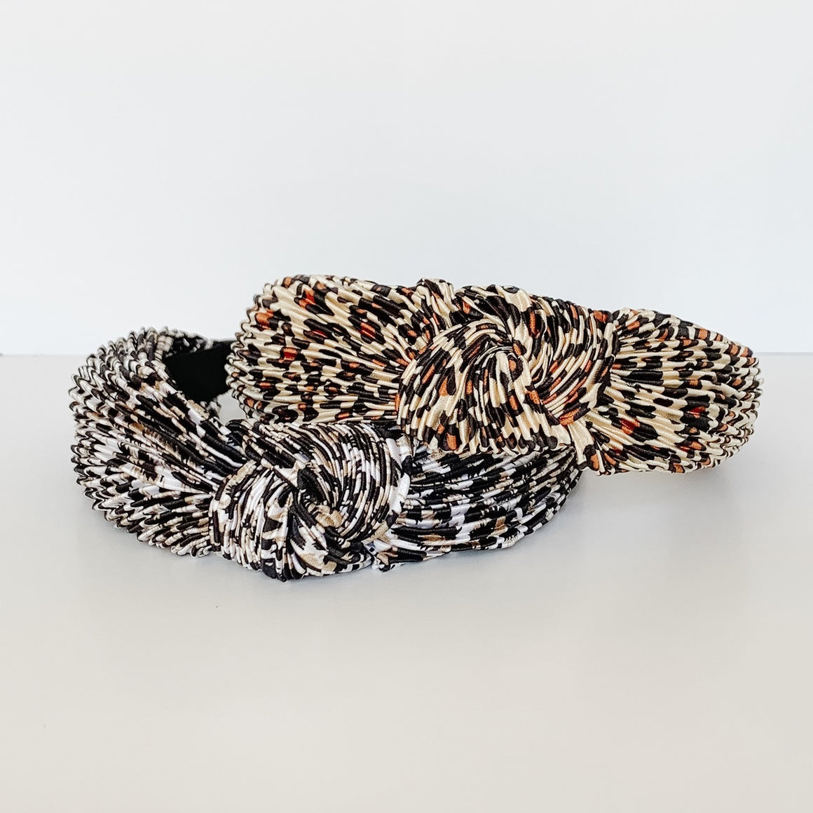 Pleated Leopard Print Headband