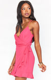 Say Jay Ruffle Dress Pink Punch-Dresses-Show Me Your Mumu-Max & Riley