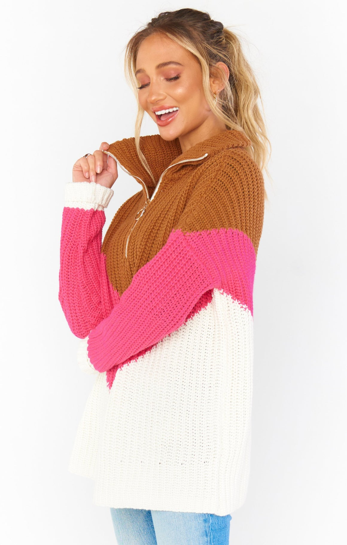 Weston Half Zip Pullover Sweater-Sweaters-Show Me Your Mumu-Max & Riley