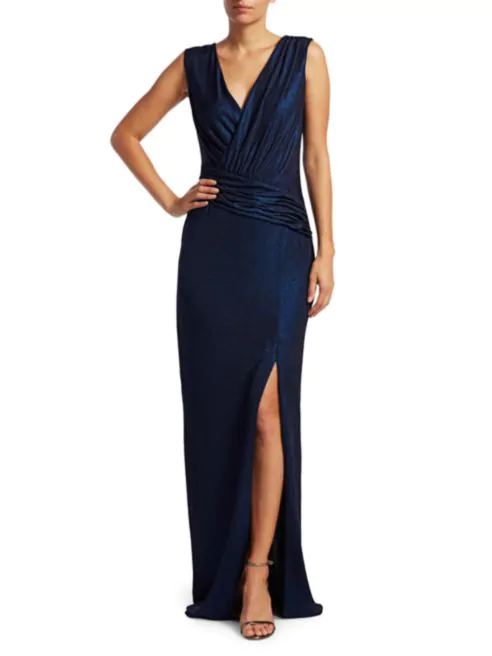 Gabrianna Glitter Column Gown-Dress-Rachel Zoe-Max & Riley