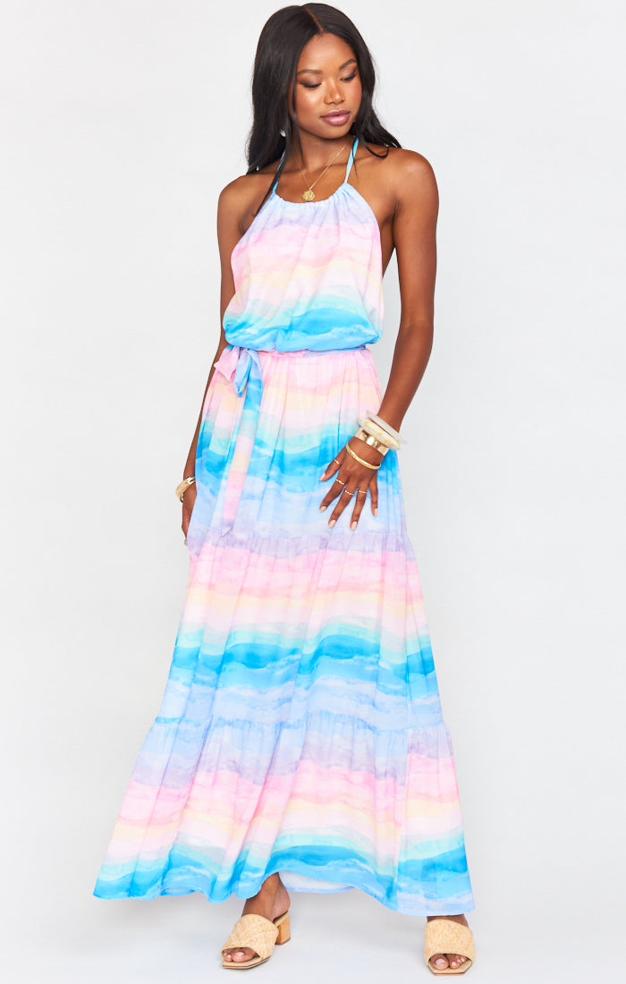Isabella Maxi Dress Mumaid Waves-Dresses-Show Me Your Mumu-Max & Riley