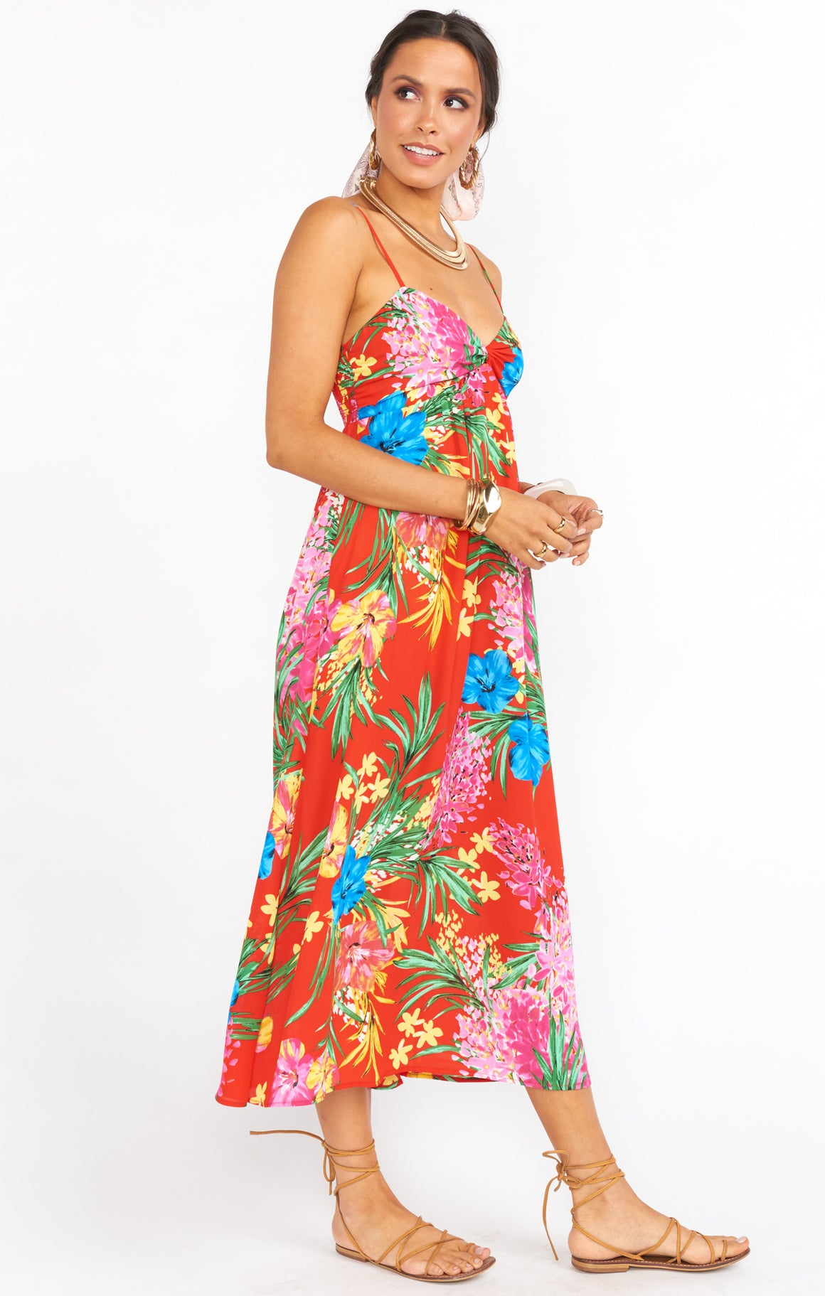 Magnolia Midi Dress- Tropical Tango Exclusive-Dresses-Show Me Your Mumu-Max & Riley