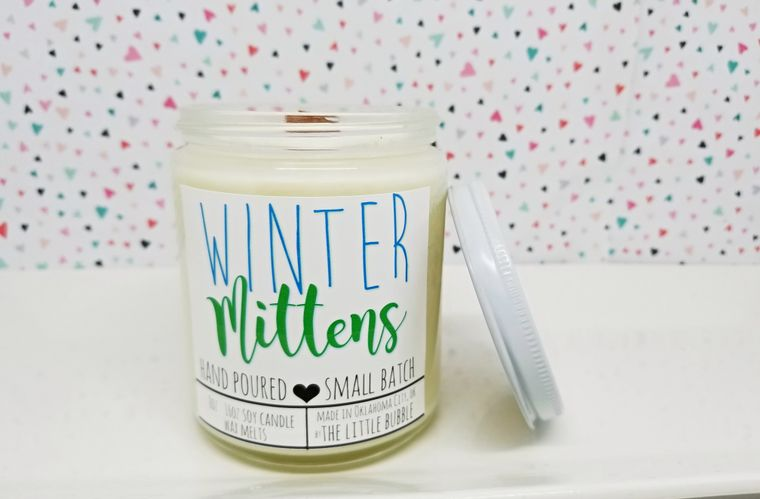Winter Mittens ~ Soy Candle Jar-Home & Gifts-The Little Bubble-Max & Riley