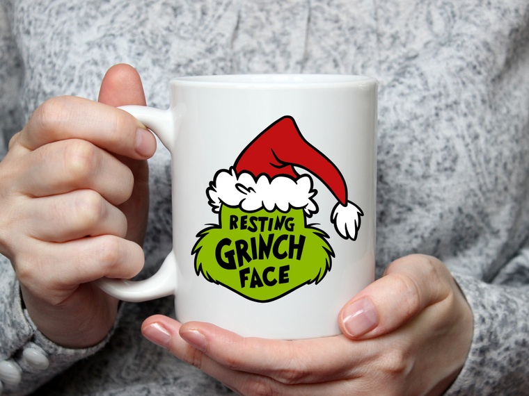 Resting Grinch Face Mug-Home & Gifts-The Gift Shoppe-Max & Riley