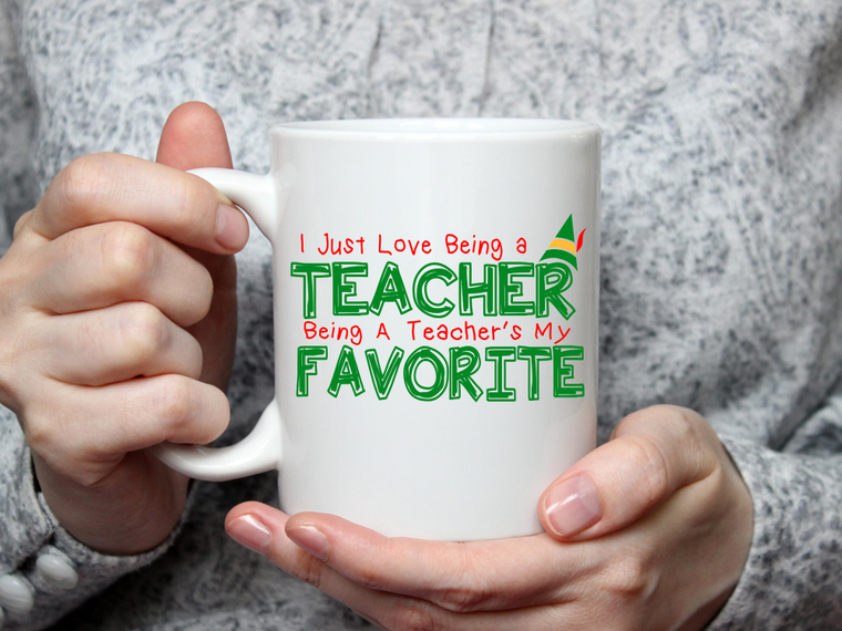Elf Favorite Teacher Mug-Home & Gifts-The Gift Shoppe-Max & Riley