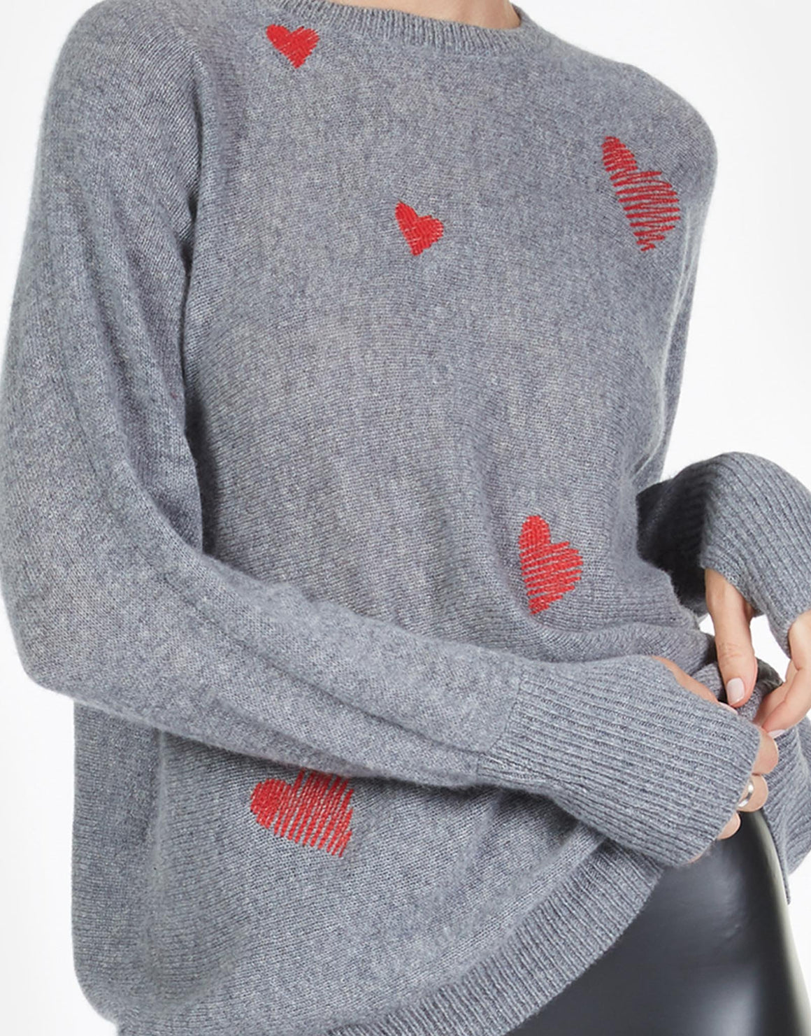 La Dona Scribble Hearts Sweater