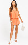 Tangerine Thelma Romper - Show Me Your Mumu Virtual Trunk Show-Rompers-Show Me Your Mumu-Max & Riley