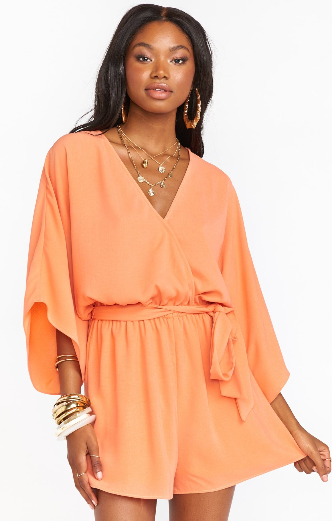 Tangerine Lo Romper - Show Me Your Mumu Virtual Trunk Show-Rompers-Show Me Your Mumu-Max & Riley