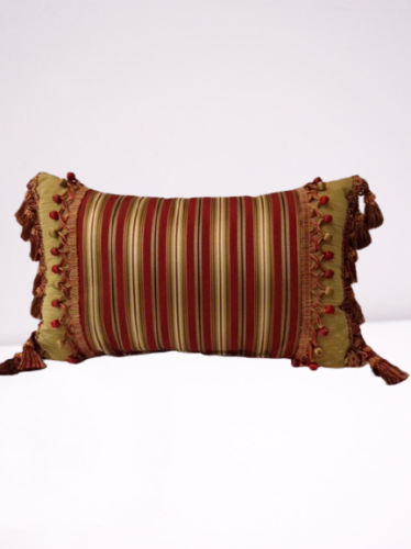 Throw Pillow with Tassels and Trim