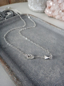 sterling silver arrow necklace | miminalist | dainty | modern | Rare Soul jewelry | Rare Soul accessories