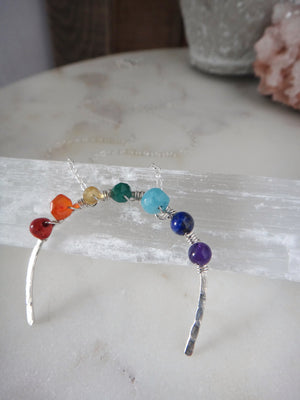 rainbow necklace | gemstone necklace | hope after the storm | rare soul jewelry | rare soul accessories