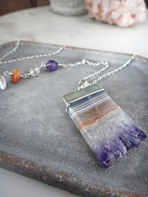 amethyst slice necklace | amethyst crystal | stalactite | rare soul jewelry | rare soul accessories