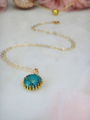 turquoise burst necklace | turquoise pendant with 14k gold fill chain | handmade | rare soul jewelry | rare soul accessories