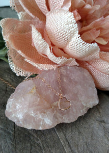 my heart necklace - rose gold