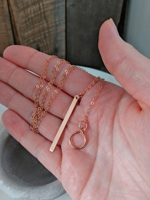 rose gold lariat necklace | rare soul accessories