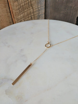 lariat gold necklace | y necklace | rare soul jewelry | accessories