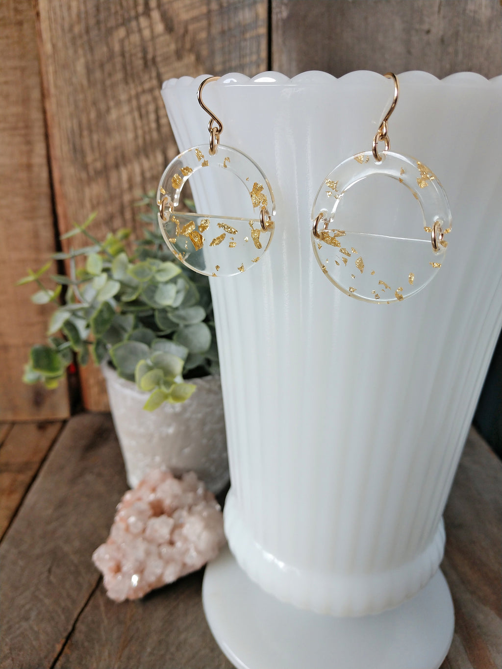 gold flake acetate earrings | lightweight | statement | cute | gold nugget earrings | rare soul jewelry | rare soul accessories
