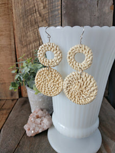 wicker earrings | rattan earrings | lightweight | sterling silver | blanche earrings | rare soul jewelry | rare soul accessories