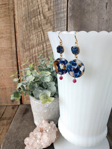 druzy earrings | acetate earrings | ruby earrings | the jen | rare soul jewelry | rare soul accessories