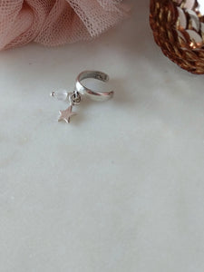 sterling silver star and moonstone ear cuff | rare soul jewelry | rare soul accessories