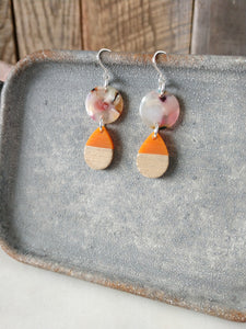 colorful acetate and resin earrings | natural wood | sterling silver | rare soul jewelry | rare soul accessories