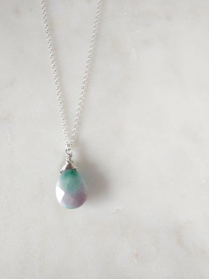 pastel candy jade and sterling silver pendant necklace | tye dye | t'dye | lilac and emerald | rare soul jewelry | rare soul accessories