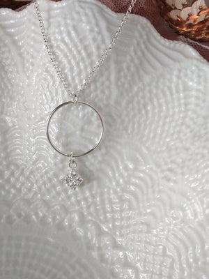 clear cz cubic zirconia and sterling silver necklace | rare soul jewelry | rare soul accessories