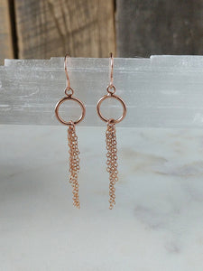 portal earrings | rose gold fringe | Rare Soul accessories