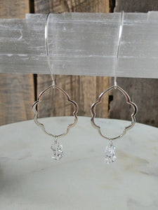 the rockin' moroccan earrings | herkimer diamonds | sterling silver | Rare Soul accessories