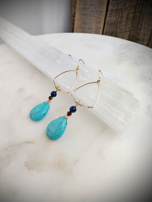 turquoise blues | turquoise | tiger eye | lapis lazuli | gold | Rare Soul accessories