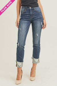 Dare to Dream Distressed Cuff Ankle Jeans