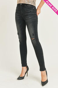 Black Onyx Distressed Skinny Jeans