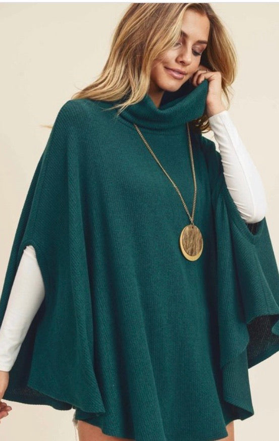 Hunter Green Poncho