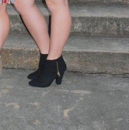 Black Cuffed Booties