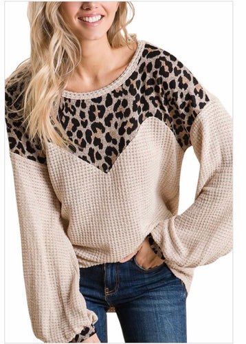 Leopard Sweetheart Top