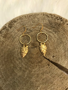 Dented Arrowhead Earrings