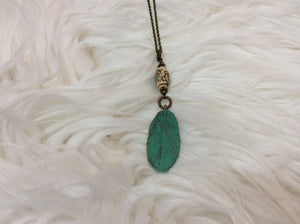 Rustic Feather Necklace