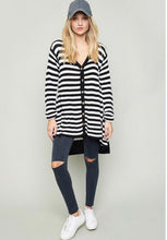 The Alyce Stripe Henley Tunic